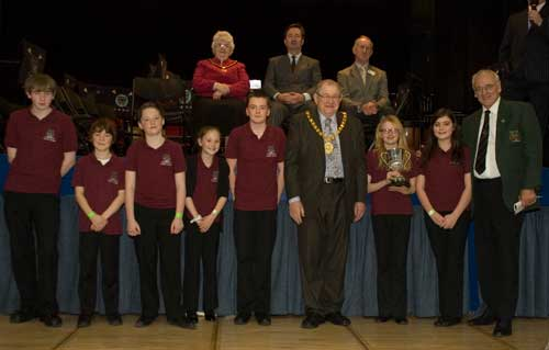 Gold Certificate for Lydbrook Training Band